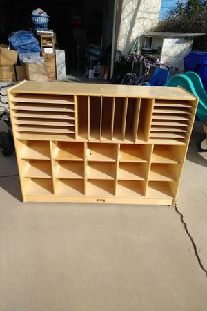 Wooden shelves and cubbies organizationer for Sale in Apple Valley, CA
