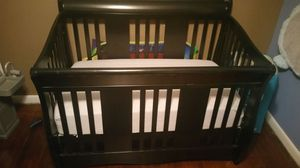 Convertible baby bed with expresoso (black) finish for Sale in Greensboro, NC