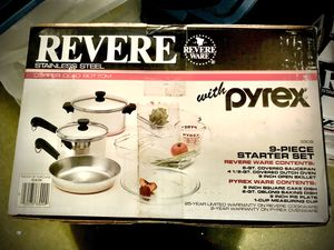 Revere Ware plus Pyrex starter set for Sale in Vancouver, WA