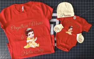 "Welcoming bundle set ""mommy and me"" chose your character theme. Limited stock on infant outfit. Price is valid on stocked items only for Sale in Los Angeles, CA"