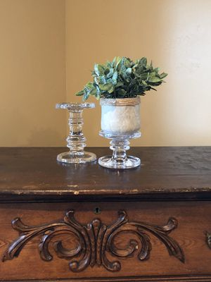 SHIPS ANYWHERE IN THE USA - Glass Candle Holders - PLANT NOT INCLUDED for Sale in Evergreen, CO