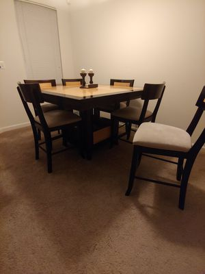 Wooden Dining table w/6 chairs for Sale in Germantown, MD