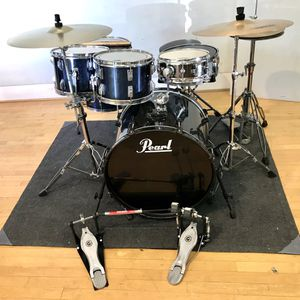 """Pearl Tama 6 piece dr set double pedal Ludwig vintage snare Tama vintage imperialstar toms pearl M-80 10"""" snare Paiste Zildjian cymbals throne sticks for Sale in Chino, CA"""