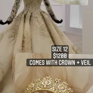 Gold Wedding Dress for Sale in San Leandro, CA