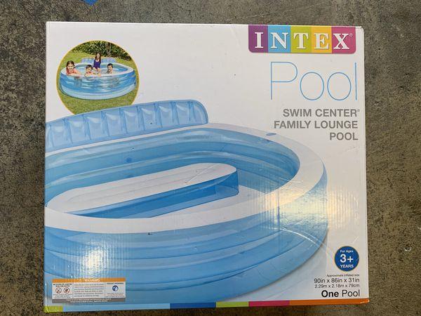 "Intex Swim Center Inflatable Family Lounge Pool, 90"" X 86"" X 31"""