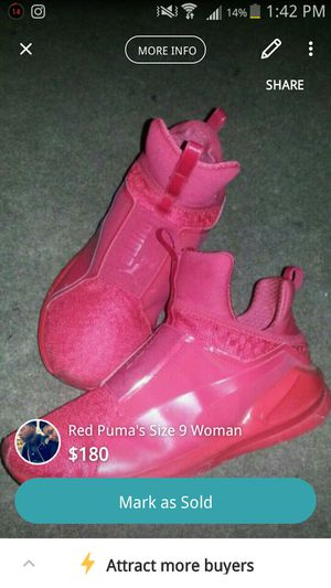 Red Pumas size 9 woman for Sale in Cleveland, OH