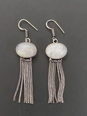 New 925 sterling silver overlay handcrafted rainbow moonstone chains earring for Sale in Camarillo, CA