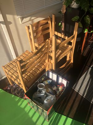 3 chairs and a bunch of kitchen stuff for Sale in Long Beach, CA