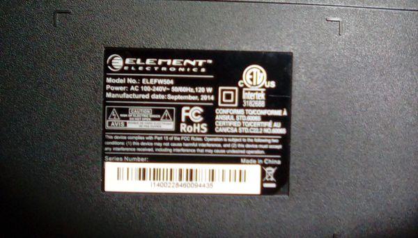 "Element ELEFW504 50"" 1080p 60Hz LED HDTV"