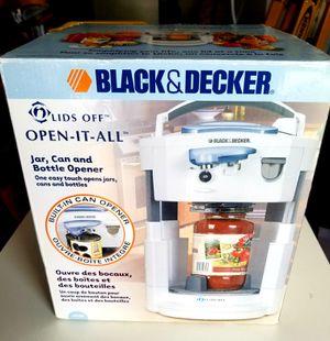 Black & Decker Opener (can, jar, bottle) for Sale in Charles Town, WV