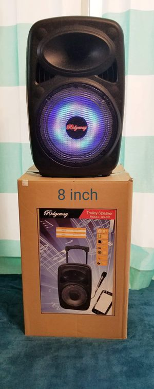8 Inch New Bluetooth Speaker SD Card,Slot USB Port,FM Radio,Microphone Included For Karaoke ( Bosina ) Bz3 for Sale in Moreno Valley, CA