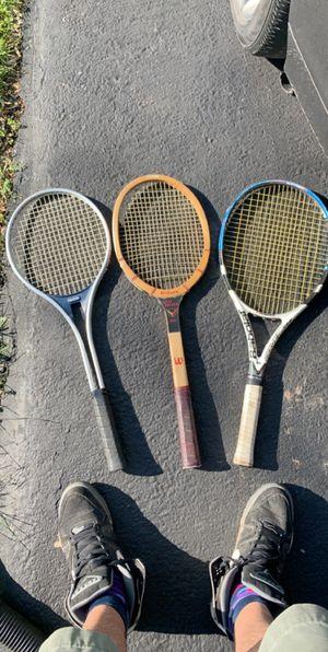 Professional name brand tennis rackets for Sale in Manassas, VA