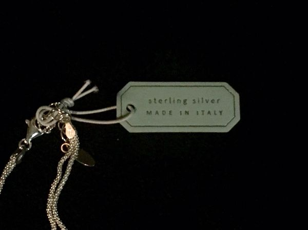 Mia Fiore Sterling Silver Double-Strand Tie / Knot Necklace - Made In Italy. New with tags.