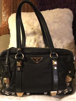 AUTHENTIC PRADA STUDDED SHOULDER BAG for Sale in Olmsted Falls, OH