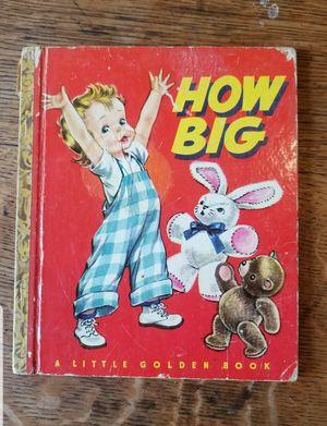 "Little Golden Book #83 ""How Big"" 1949 for Sale in Lexington, SC"