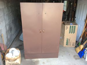 Large Metal Wardrobe OR 7 Milk Glass Globes / Shades in Box for Sale in Glenshaw, PA