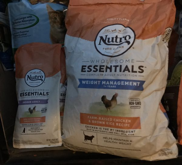 Two bags Nutro Dry Cat Food