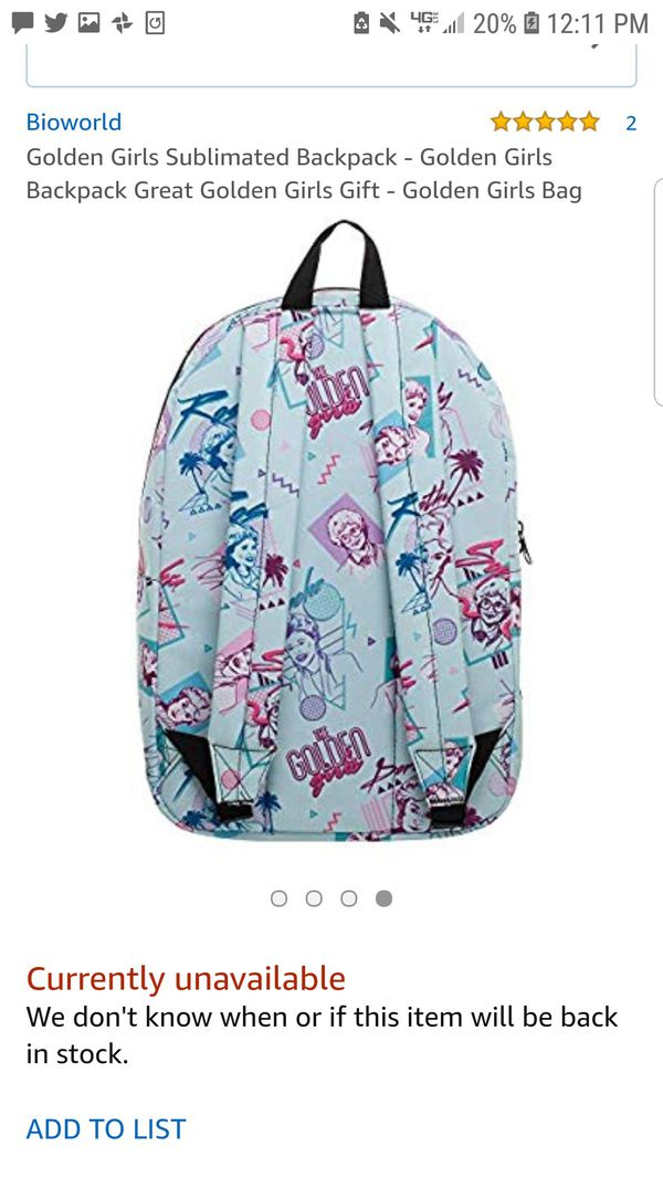 a7512334ac28 Golden Girls Backpack for Sale in Sacramento, CA - OfferUp