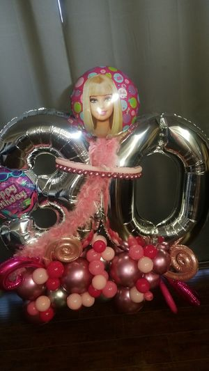 Pink Birthday Barbie 30 sign balloons for Sale in Los Angeles, CA