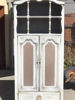 Antique Armoir White Dresser With Doors And Drawer for Sale in Los Angeles,  CA