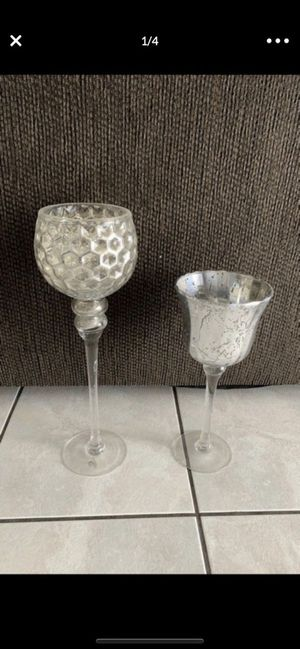Mercury glass candle holders 🌸 for Sale in Colton, CA