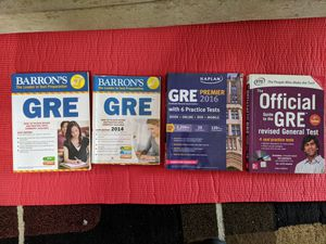 GRE Books and Notes (Barron's, Kaplan, ETS) for Sale in Franklin, TN