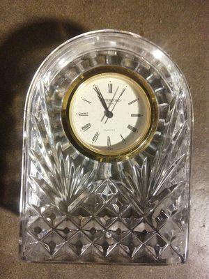 Waterford crystal clock 3 inches tall for Sale in Houston, TX