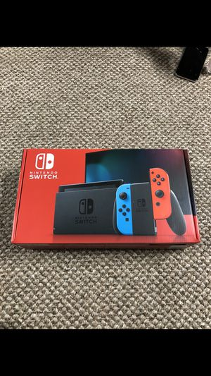 Brand New Nintendo Switch V2 Console W/ Neon Red and Blue Joy Cons for Sale in St. Louis, MO