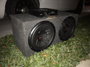 """2 12"""" Pioneer Subwoofers with Amp for Sale in Boynton Beach, FL"""