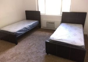 2 twin size bed frame new in the box with the mattress and free delivery and free set up for Sale in Hialeah, FL