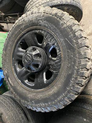 Nissan Titan Wheels with BFGoodrich Mud-Terrain LT255/75R17 tires for Sale in Lockport, IL