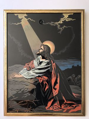 Modern | Painting Of Jesus | Paint By Number | 1960s for Sale in Seattle, WA
