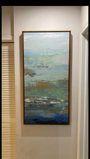 Like new artwork modern abstract coastal colors for Sale in Deerfield Beach, FL
