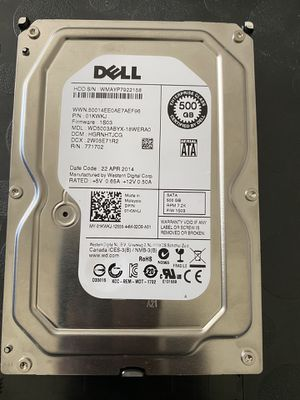 DELL 500 GB Hard Disk for Sale in Miami, FL