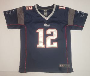 EXCELLENT NEW ENGLAND PATRIOTS Tom Brady Nike NFL On Field Sewn Youth Jersey L for Sale in Miami Gardens, FL