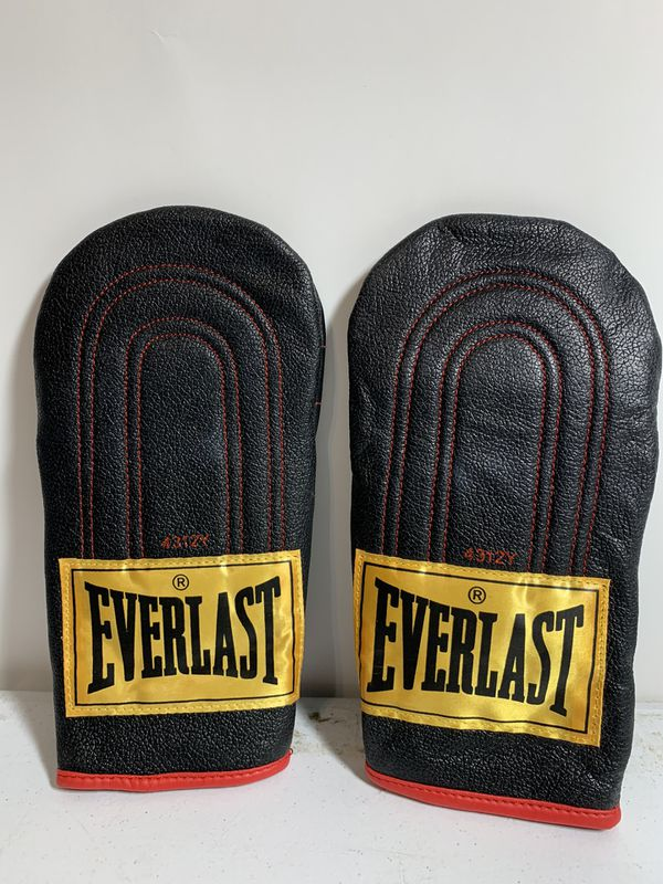 Everlast Black Leather Speed Bag Gloves Model 4312Y Size Youth Boxing
