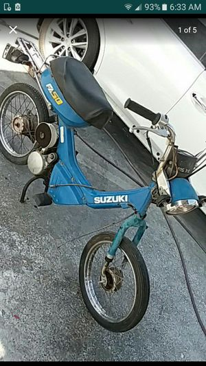 1980s SUZUKI FA 50 MOPED PROJECT!! NEEDS LOL WORK!! BILL OF SALE ONLY! 275$$ for Sale in Gardena, CA