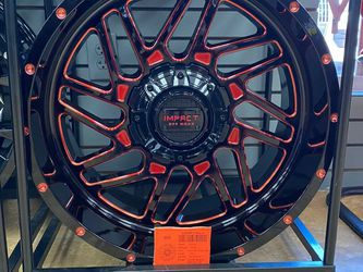 20x10 Milled red impact con llantas 2755520 AT for Sale in Phoenix,  AZ