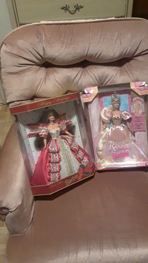 Holiday and Rapunzel collector Barbie's for Sale in Philadelphia, PA