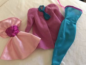 90's Barbie Night Out Dress-up with Coat and Hat for Sale in Rancho Cucamonga, CA