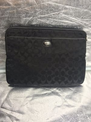 Coach Signature C Black Canvas & Leather Laptop Case / Sleeve for Sale in Washington, DC