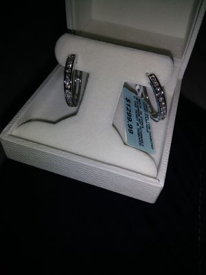 1/2 ct round cut white gold diamond earrings for Sale in Columbus, OH