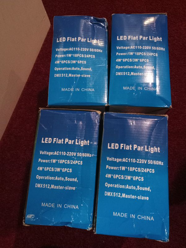4 NEW 30W 18-RGB LED Mini Stage PAR Lights Lamp DMX512 For DJ Club Disco KTV Party Bar.