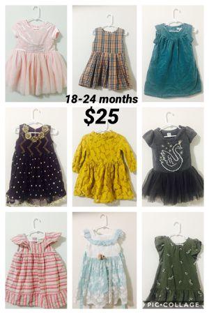 18-24 months toddler girl dresses lot for Sale in Sayreville, NJ