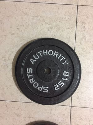 2- Sports Authority 25 LB Iron Weight Plates Black. Used. for Sale in Palmetto Bay, FL