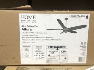 New Home Decorators Collection Altura DC 68 in. Indoor Vintage Copper Ceiling Fan with Remote Control for Sale in Los Angeles, CA