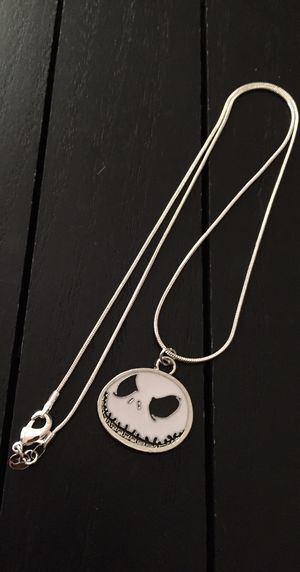 "18"", 20"" or 22""/ 925 Silver Plated Necklace with Jack Skellington-Nightmare Before Christmas Pendant for Sale in Riverside, CA"