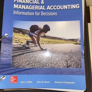 Financial & Managerial Accounting - McGraw Hill for Sale in Madera, CA