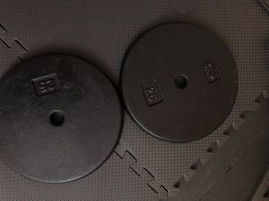 Set of two standard weight plates 25lb each for Sale in Finleyville, PA