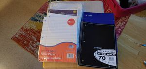 Pkgs of Paper + 3 Notebooks for Sale in Revere, MA